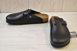 Birkenstock Boston Clog - Regular - Men's Size US 10/EUR 43 - Black Leather