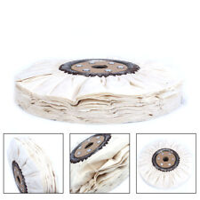 """300mm 12""""Cotton Airway Buffing Wheel Cloth Wheel 30mm Bore For Rotary Tool 66Ply"""