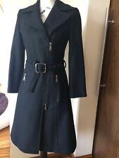 JOHN RICHMOND 100%Wolle Design Damen Mantel schwarz  Gr.36  It.40 w.NEU