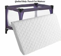 NEW BREATHABLE THICK TRAVEL COT MATTRESS FIT 118 X 54 X 7.5 CM