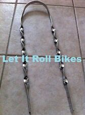 "BICYCLE FLAT STRAIGHT TWISTED SISSYBAR 21"" long FOR 20"" LOWRIDER BIKES NEW!"