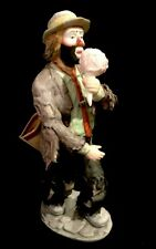 Flambro Emmett Kelly Jr Figurine Cotton Candy #9825 ( Perfect Condition )