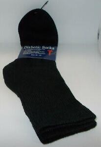1 Paire HOMME Diabétique Non Bords Extra Large Manchette Socks Noir Taille 10-13