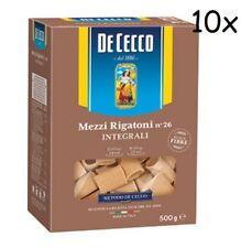 10x Pasta De Cecco mezzi rigatoni integrali 26 Vollkorn italienisch Nudeln 500 g