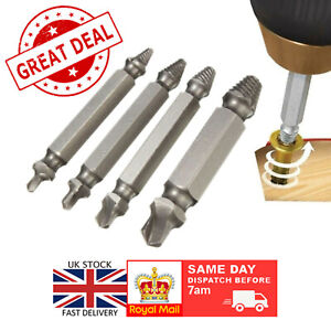 Set of 4 Broken Bolt Remover Easy Out Stud Tool Screw Extractor