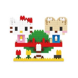 Hello Kitty on Seesaw Nanoblock 3D Puzzle Diamond Micro Block 301 Pieces