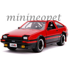 JADA 99577 JDM TUNDERS 1986 TOYOTA TRUENO AE86 1/24 DIECAST MODEL CAR RED BLACK