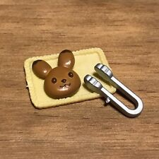 Sylvanian Families Kitchen Bakery Food Spares | Small Tray Bunny Bread & Tongs