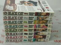 Lot of 8 Black Cat Manga Book #1-8 Manga Kentaro Yabuki Shonen Jump English