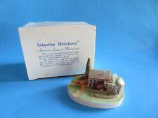 """Vintage Sebastian Miniatures """"Wayside Grist Mill� 1985 Signed"""