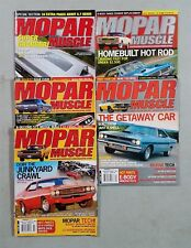 Mopar Muscle Magazine 2006 - Lot Of 5 Complet Issues