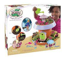 Fairy garden cottage girls craft grow plants kit playset mini figurine planter