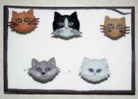 CAT BREEDS 5pc Push Pin Set - Handmade Decorative