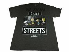 Peanuts Men's T Shirt Run The Streets Peanuts Gang Graphic Tee