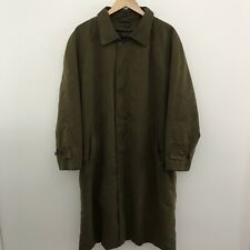 Brooks Brothers Mens L Large Brown Zip Out Insulated Lined Overcoat Trench Coat