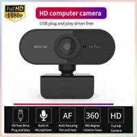 Full HD 1080P Auto Focus Webcam Built-in Microphone Camera For PC Laptop Desktop