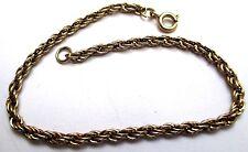 bracelet bijou rétro maille torsadé couleur or modèle classique 145