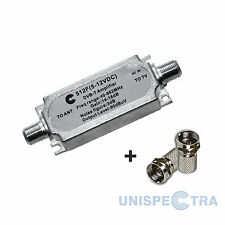 IN-LINE SIGNAL AMPLIFIER Signal Booster for Freeview Aerials + 2F connectors
