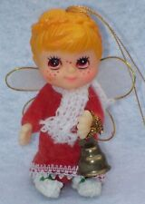 Adorable Vintage Mid Century Big Brown Eyed Freckled Christmas Fairy Angel