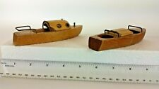 Vintage Wooden Boats Lot Of 2