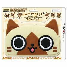 New Monster Hunter Airou Pouch Case for 3DS XL LL Nintendo JAPAN FreeShipping