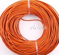 3M Orange Real Leather Necklace Charms Rope String Cord 2.0mm