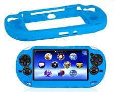 Azul suave piel de silicona Protector Funda Carcasa Para Sony Ps Vita Consola Psp