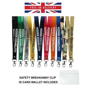 Hidden Disability printed Lanyard neck strap, ID HOLDER Disability Exemption