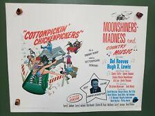 1967 COTTONPICKIN CHICKENPICKERS Original Half Sheet Poster COUNTRY MUSIC COMEDY