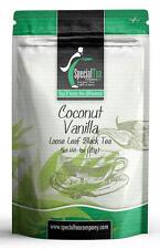 Coconut Vanilla Gourmet Loose Black Tea 1 oz. Includes 10 Free Tea Bags