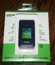 New listing Brand New and Sealed Cricket Wireless Debut FLIP Phone 4GB - Navy Blue