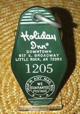 Vintage Holiday Inn Hotel Room Key And Fob Little Rock, AR Rm#1205