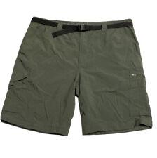 "Columbia Men Size 42 Green Hiking Shorts Belted Zip Cargo Inseam 10"""