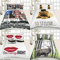 3D Microfiber New Duvet Cover with Pillow Case Quilt Cover Bedding Set All Sizes