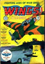 Golden Age Fiction House Wings Comics ON DVD