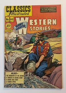 Classics Illustrated #62: Bret Harte's Western Stories 1st Edition 1949 VF+