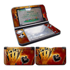 Nintendo 3DS XL Skin Design Foils Aufkleber Schutzfolie Set - Burning Cards