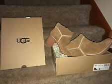 NEW! AUTHENTIC UGG ~W KASEN~ SUEDE CHESTNUT BOOTS BOOTIES LADIES SIZE 8