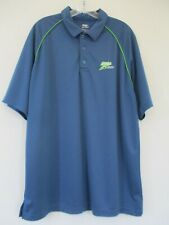 Upward Sport Men's Size AXL Solid Blue Short Sleeve Hydrovent Polo Shirt