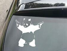 LARGE Banksy Panda with Guns Car/Window JDM VW EURO DUB Vinyl Decal Sticker