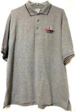 USBC DSUSBC Delaware Men's Gray Tri-Mountain Cotton Polo Shirt Size XL     MG19