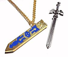 LEGEND OF ZELDA Breath of the Wild MASTER SWORD pendant necklace Link gold M2