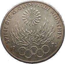 1972 Germany Munich Summer Olympic Games XX 10 Mark Silver Coin w Eagle i52434
