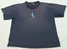 Nike Basketball Blue & White Cotton Mens Tee T-Shirt Top Mans Solid Graphic XXL