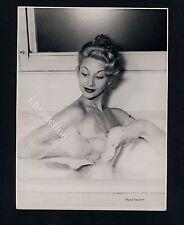 Pretty Nude Girl 's Foam Bath/nudo in vasca da bagno * VINTAGE 50s Photo by Seufert