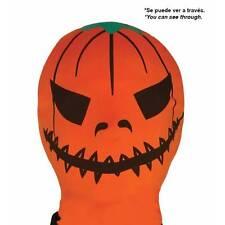 Orange Pumpkin Spandex  Horror Mask Halloween Fancy Dress Lycra Accessory