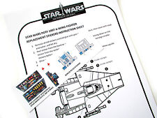 'DIE CUT' REPLACEMENT STICKERS for STAR WARS POTF 2 1997 A-WING FIGHTER +BONUS