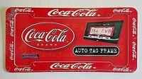 Coca Cola Plastic License Plate Frame Official Coke Logo Dent & Rust Resistant