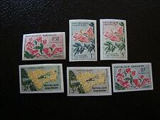 GABON - timbre - yvert et tellier n° 153 a 158 n** (non dentele) (A7) stamp