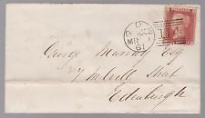 1861 Dundee Scotland letter cover to Edinburgh